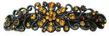 Large Hair Barrette Hairclip Antique Nick Color Brown Crystals Sale @ $ 5A800-1