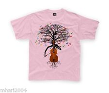 Cello T-shirt Musical Cellist Tree in Kids sizes 1-2yr up to 11yr-12yrs