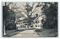 Postcard Home of the Late Dwight L Moody, East Northfield MA 1910 G32