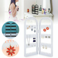 Jewelry Display Stand Rack Earring 120 Holes Holder Storage Organizer Box Show