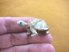 (Y-TUR-LA-29) Tan Tortoise land turtle carving SOAPSTONE FIGURINE baby turtles