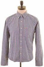 HOLLISTER Mens Shirt Medium Blue Striped Cotton  LI10