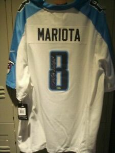2020 Upper Deck Threads Marcus Mariota UDA Autograph Titans Auto Game Jersey SSP