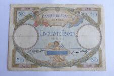 50 Francs LUC OLIVIER MERSON 11/7/1927