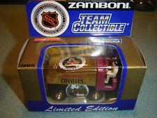 RARE 2000 WHITE ROSE NHL PHOENIX COYOTES GOLD DIECAST ZAMBONI 50YRS 1/50 NEW
