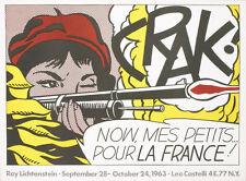 Crak! by Roy Lichtenstein 1963 Leo Castelli Lithograph Poster Mint Condition