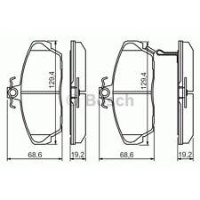BOSCH Bremsbelagsatz Scheibenbremse ROVER 800 (XS)  ROVER 800 Hatchback (XS)  R