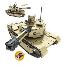 RC Panzer Militär Bausteinpanzer Ferngesteuert, Baustein Modell für Kindern ab 8