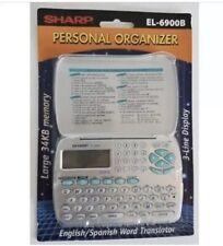 Sharp EL-6900B Electronic Personal Organizer  Silver English / Spanish Translato