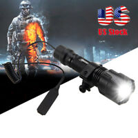 5000lm T6 LED Tactical Flashlight Lamp+Pressure Switch with Picatinny Rail Mount