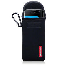 Shocksock Neoprene Pouch Case with Carabiner for Samsung Galaxy S7 Edge - Black