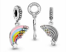 New Authentic Pandora Passions Colourful Rainbow Dangle Charm 925 Silver ALE