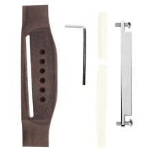 5Pcs Wood Acoustic Folk Guitar Strings Bridge Saddle Shaft and Nut Repair Kit