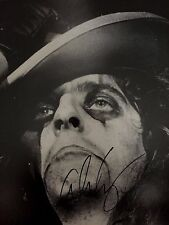 ALICE COOPER Signed Autographed rare 11x14 B&W PHOTO Closeup Pic Proof