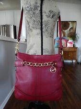 COACH RASPBERRY CHAIN DUFFLE CROSS BODY F19722