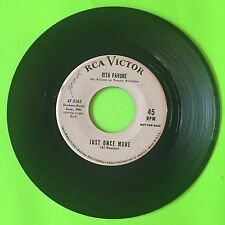 "RITA PAVONE Just Once More b/w Remember Me  47 8365 7"" 45rpm Vinyl VG/+ PROMO"