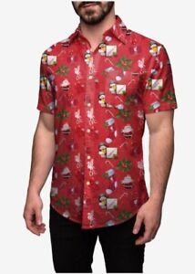 Liverpool FC LFC Short Sleeve Shirt Christmas t-Shirt Xmas Hawaiian YNWA S-XXL