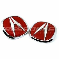 OEM Honda 97-01 Acura Integra Type R DC2 Red A Emblems Front & Rear Genuine