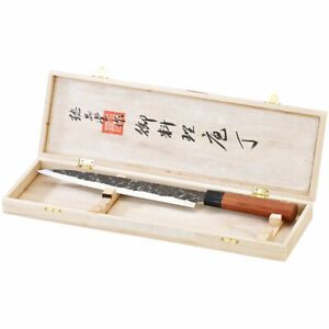 Filetiermesser: Filiermesser mit Echtholzgriff, handgefertigt (Filitiermesser)