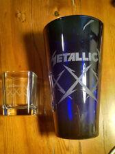 METALLICA LIMITED EDITION XXX ETCHED PINT & SHOT GLASS SET METCLUB 2012