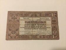Nederland Zilverbon 1 Gulden 1938, AU 843321