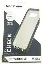 Tech21 Evo Check Flex Shock Slim Case For Samsung Galaxy S8 - Black New in Box