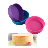 8 Inch Silicone Mould Bakeware Round Cake Form Baking Pan Color Random RA
