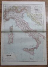 Karte aus 1889 - Italien - alte Landkarte old map