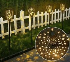 Solar Shadow Cast Stakes Floral or Celestial 3 Different Heights Outdoor Lights