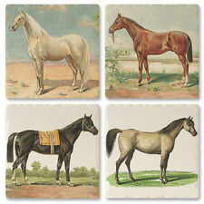 Horse Absorbent Ceramic Coaster Set