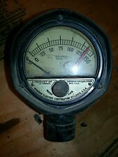 Two Vintage Motormeter G.&E. + Wagner Electric Corp Temperature Gauge Steampunk