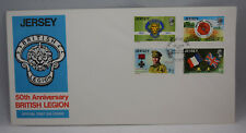 First Day Cover Jersey 50th Anniversary British Legion + Insert - 15th June 1971