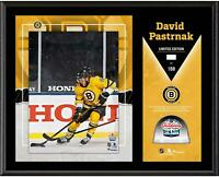 """David Pastrnak Bruins 12"""" x 15"""" 2021 Outdoors at Lake Tahoe Plaque with GU Ice"""