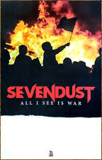 SEVENDUST All I See Is War 2018 Ltd Ed New RARE Poster +FREE Rock Metal Poster!