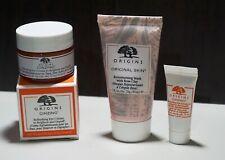 Origins LOT GinZing Refreshing Eye Cream 15ml & 5ml + Retexturing Mask Rose Clay