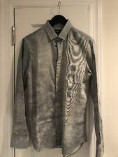 EMPORIO ARMANI Gray Mens Casual Button-up Shirt