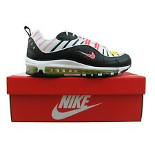 Nike Air Max 98 Athletic Shoes Black Bright Crimson White 640744-016 Mens Size