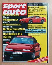 Sport Auto 7/1990 - Mitsubishi HSX - Opel Calibra 16V - Toyota MR2 - Alfa Spider
