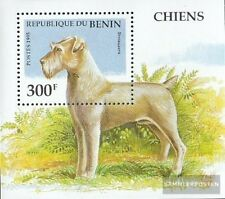 Benín Bloque 12 nuevo con goma original 1995 perros