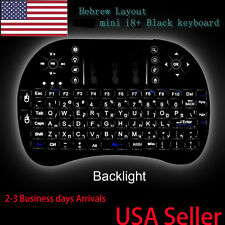 US Stock Layout Backlit mini i8  wireless keyboard for smart TV Android BOX NEW