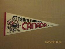 NHL Team Canada Equipe Du Vintage Circa 1976 Logo Hockey Pennant