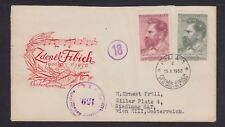 CZECHOSLOVAKIA 1950 FIBICH COMPOSER MUSIC CENSORED FIRST DAY COVER TO VIENNA