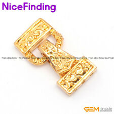 3 Strands Yellow Clasps Gold Plated Magnet Jewelry Making Design  29x14mm DIY