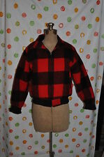 WOOLRICH  RED/ BLACK SHORT wool blend winter Snow Chore COAT BOYS Small  8/10