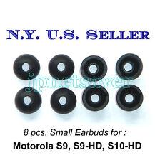 8 small Motorola S9 S9-HD S10-HD replacement earbuds - Motorokr eargel eartips