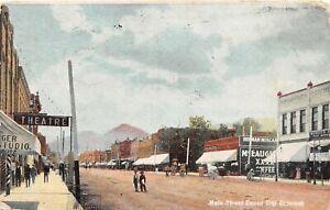 H67/ Canon City Colorado Postcard c1910 Main Street Stores Theatre  14