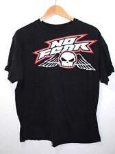 No Fear T-Shirt Mens Size L Black Skull Wings