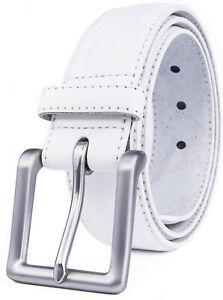 "Men's Leather Casual Belt for Jeans Khakis Dress Belt for Men 1.5"" Width"