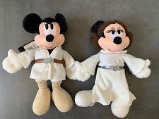 Peluche 25cm Mickey & Minnie - Luke & Leia 30eme anniversaire STAR WARS