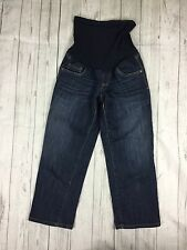 Oh Baby By Motherhood Women's Size Small Dark Cropped Capri Jeans Full Panel.  B
